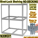 Heavy-Duty NO-DECK Rivet Shelving / NXW001