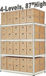 ARCHIVE RECORD STORAGE DOUBLE-RIVET SHELVING (S1A76)