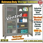ST015 / Extreme-Duty Vented Door Steel Cabinets