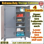 ST018 / 4-Compartment Storage Cabinets
