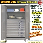ST104 / Extreme Duty 7-Drawer Storage Cabinet