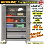 ST107 / Extreme Duty 3-Drawer Storage Cabinet