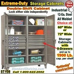 ST108 / Extreme Duty 8-Drawer Storage Cabinet