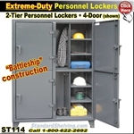 ST114 / 2-Tier Extreme-Duty Personnel Lockers