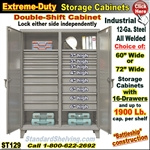 ST129 / Extreme Duty 16-Drawer Storage Cabinet