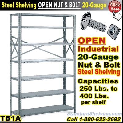 20 gauge Steel Shelving / N&B / TB1A