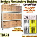 Archive Shelving 3-Levels / TBAR3