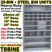 29-Bin Openings Steel Shelf Unit / TBBINE29