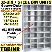 32-Bin Openings Steel Shelf Unit / TBBINR32