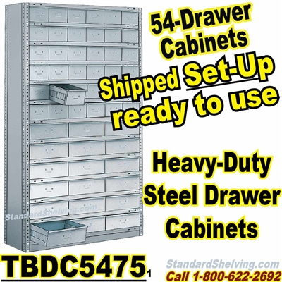 54-Drawer Steel Parts Cabinets / TBDC5475
