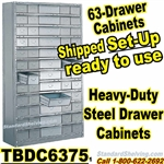 63-Drawer Steel Parts Cabinets / TBDC6375