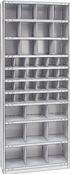"STEEL BIN UNIT WITH 45-OPENINGS, UNIT 87""HIGH (TBJ)"