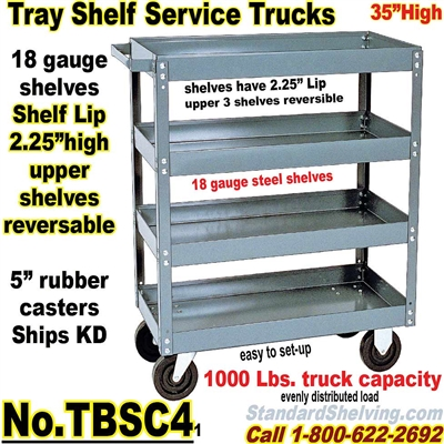 Tray 4-Shelf Service Trucks / TBSC4