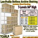 Low-Profile Archive Shelving  / TCARLP