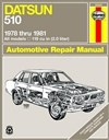 Haynes 28020 Datsun 510 All Models Repair Manual for 1978 thru 1981