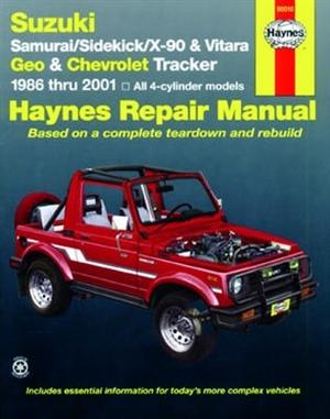 2001 chevy tracker repair manual free download