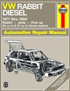 Haynes 96020 Volkswagen Rabbit, Jetta & Pick-Up Repair Manual for 1977 thru 1984 Models