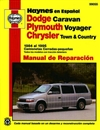 Haynes 99055 Dodge Caravan, Plymouth Voyager, Chrysler Town and Country Truck Repair Manual for 1984 to 1995