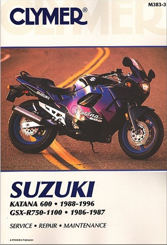 Suzuki Motorcycle Manual  Katana 600 - Gsxr750
