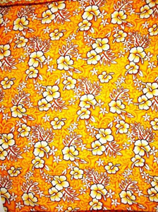 Orange and Yellow Traditional Hawaiian Print