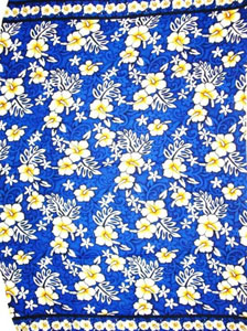 Blue Traditional Hawaiian Print