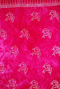 Plus Size Pink Sarong with Dolphins