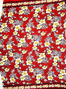 Red Traditional Hawaiian Print