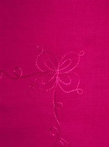 Embroidered Solid Pink Sarong