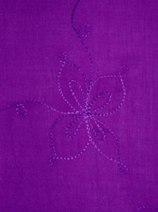 Embroidered Solid Purple Sarong
