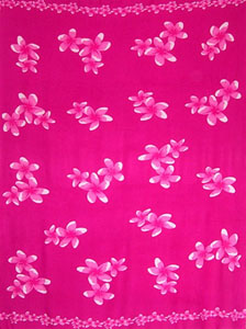 Pink Sarong With White Plumerias