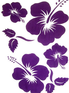 Purple Large Hibiscus Sarong