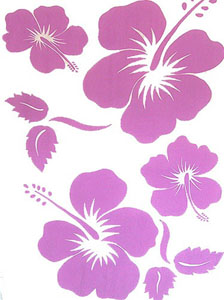 Light Purple Large Hibiscus Sarong