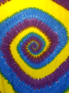 Tie Dye Sarong - Purple Blue Yellow