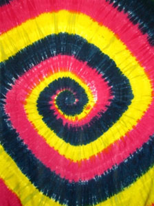 Tie Dye Sarong - Pink Yellow Blue