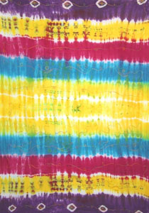 Embroidered Tie Dye Rainbow Striped With Circles
