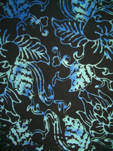 Fancy Black Sarong With Light Blue Pattern