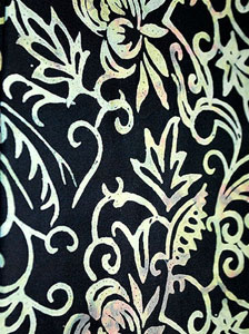 Fancy Black Sarong With Larger Yellow Pattern