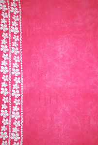 Plus Size Pink Sarong With Side Flowers