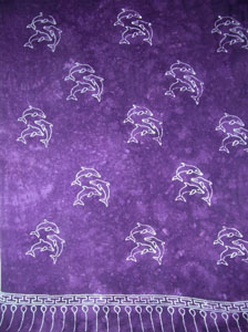 Plus Size Purple With Dolphins