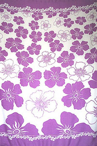 Multi-Hibiscus Purple Sarong