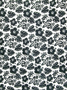 Busy Floral Pattern in Black Sarong