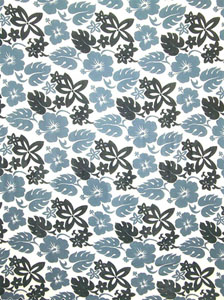 Busy Floral Pattern in Black and Gray
