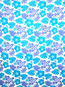 Busy Floral Pattern in Blues Sarong