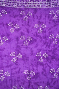 Batik Purple Sarong With Turtles