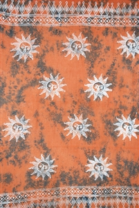 Batik Rusted Sarong With Suns