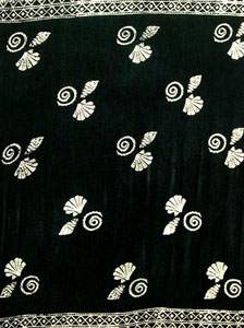 Batik Black Sarong With Shells