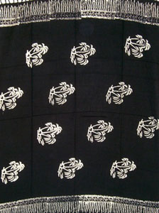 Batik Black Sarong With Palm Trees