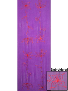HALF Sarong - Embroidered Purple