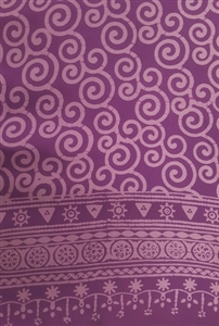 Fancy Purple With Bright Orange Pattern