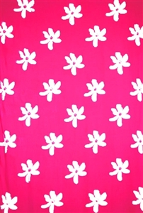 Plus Size Tiare Flower Print in Pinks